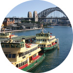 Circular Quay is the hub of ferry transport for Sydney harbour