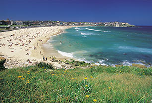 golden sands of Bondi Beach Sydney